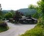 Eingangsbereich Campingplatz mit Seehütte