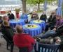Absacker im Biergarten am Hafen