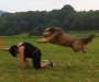 Bo u. Doris beim Frisbee