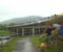 Lange Karawane über die Ederbrücke bei Herzhausen