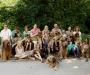 Gruppenfoto der Wäller vom Bambuswald