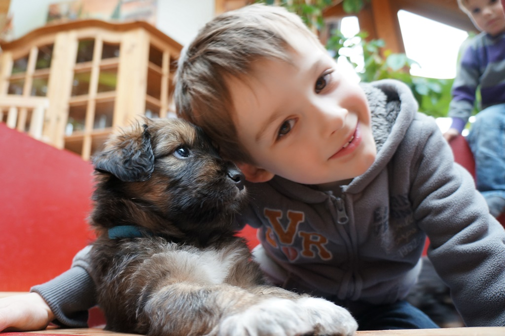 Matteo mit Chewbacca